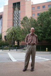 Todd Golde in front of the McKnight Brain Institute