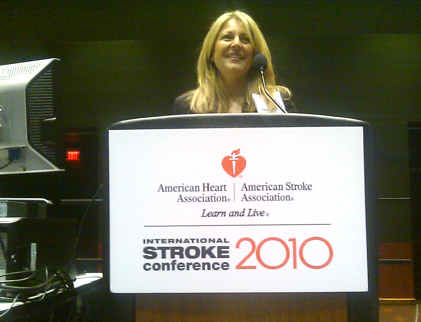 Stroke program coordinator Justine Abram presented original research to an international audience at the nursing symposium during the International Stroke Conference in San Antonio. Her research concluded improved stroke patient care through the implementation of early response notification of impending stroke patients to SUF.