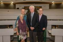 Dr. Koob with family and faculty