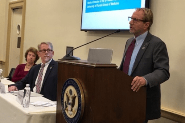 Doctor scott teitelbam orating to a congressional committee on the opioid epidemic