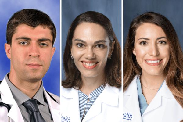 three researchers' headshots