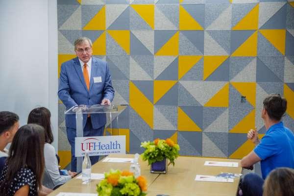 UF President, Kent Fuchs gives a speech