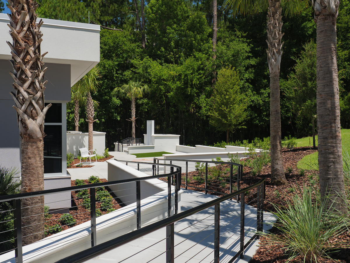 outdoor ramp leading to patient patio