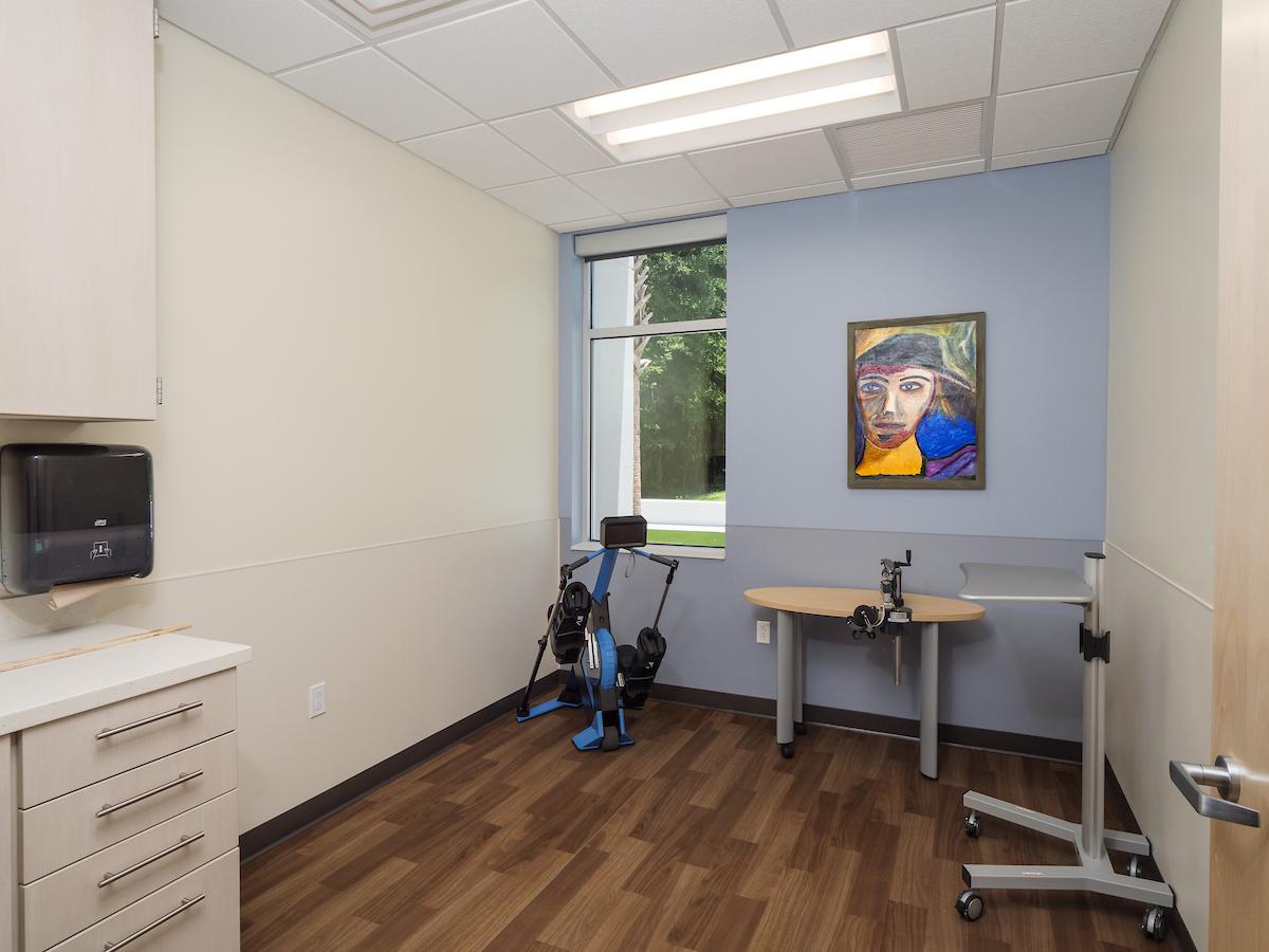patient exam room in Fixel