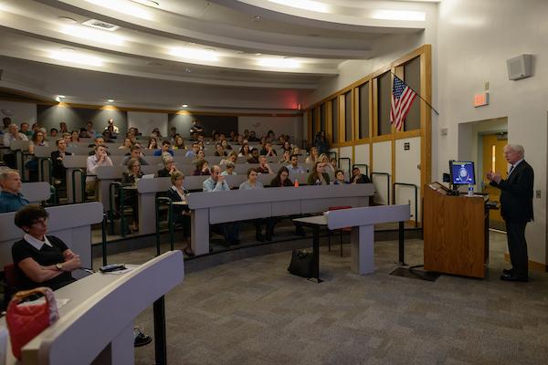 Dr. Koob giving a presentation