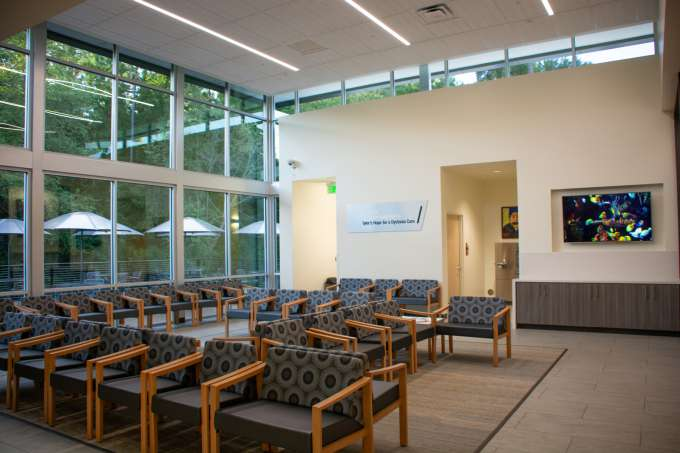 patient lounge dedicated to Tyler's Hope for a Dystonia Cure.