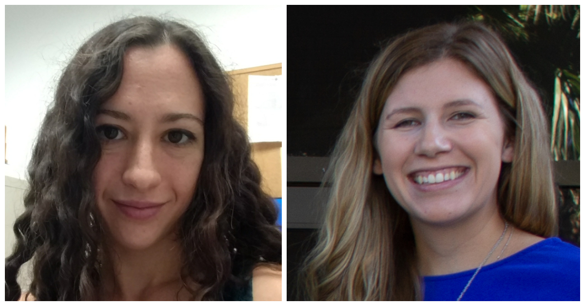 Jolie Barter, a Ph.D. student, and Brittney Yegla, Ph.D.,