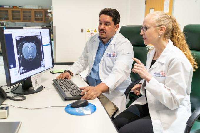 Drs. Marcelo Febo and Sara Burke