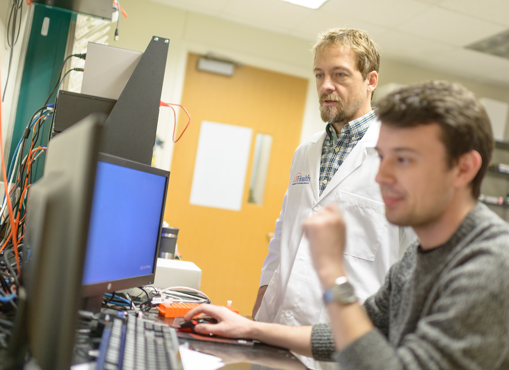 doctor maurer in the lab with a colleague