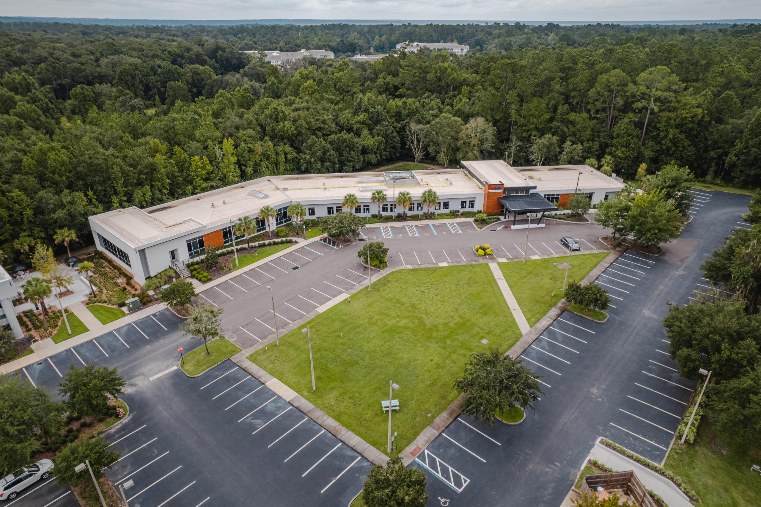 aerial shot of the Fixel institute